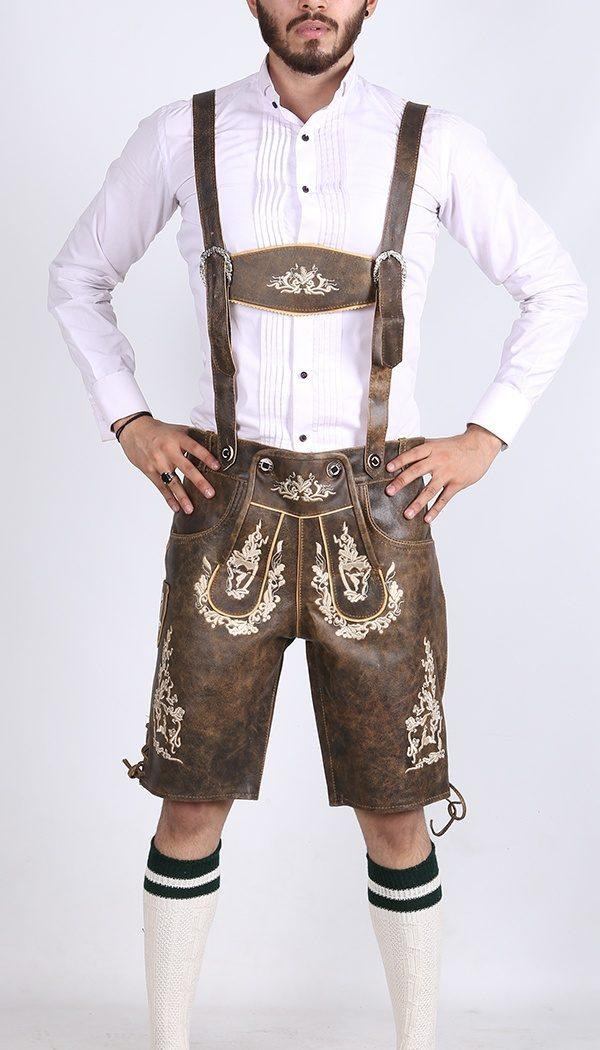 Bavarian Herren Lederhosen Rusty Tobacco