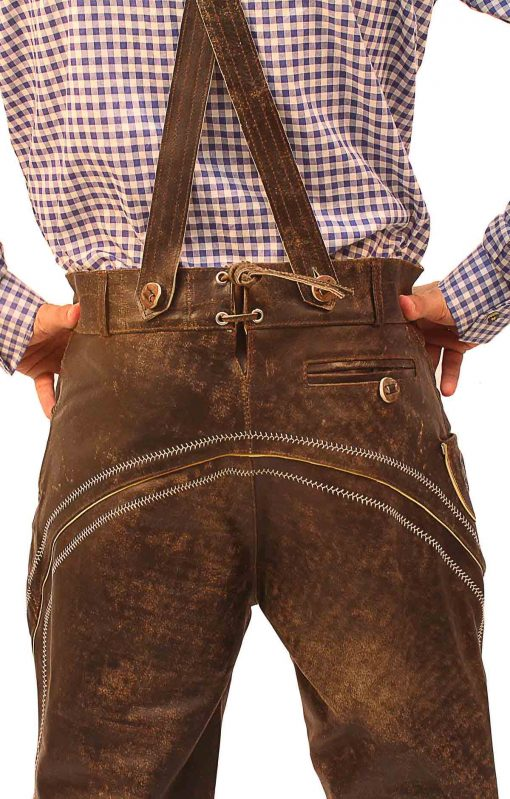 Bundhosen Knee Length Trousers Wild Brown